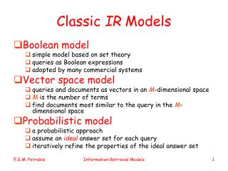 Classic  IR  Models