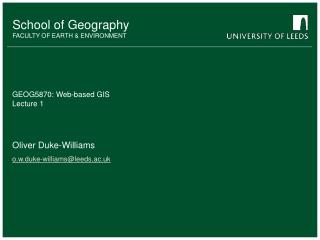 GEOG5870: Web-based GIS Lecture 1