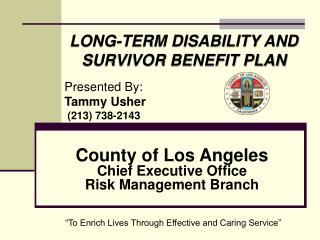 County of Los Angeles Chief Executive Office Risk Management Branch