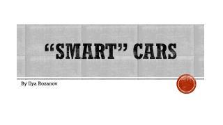 """Smart"" cars"