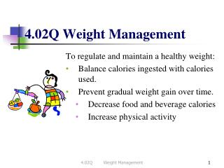 4.02Q Weight Management