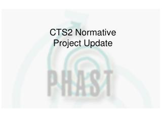 CTS2 Normative Project Update