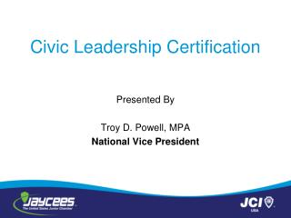 Civic  Leadership Certification