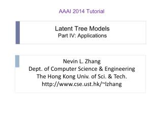 Latent Tree Models Part IV: Applications