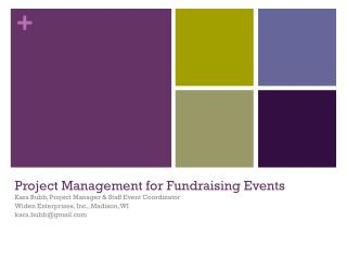 Project Management for Fundraising Events