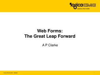 Web Forms: The Great Leap Forward