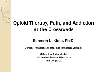 Pain Management Drug Therapy Workshop
