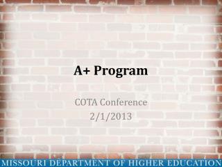 A+ Program