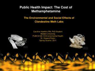 Public Health Impact: The Cost of Methamphetamine