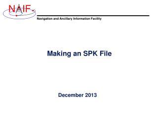 Making an SPK File