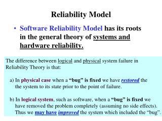 Reliability Model