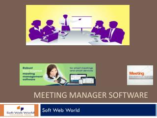 Meeting Manager Software