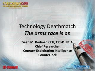 Technology  Deathmatch The arms race is on