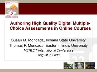 Authoring High Quality Digital Multiple-Choice Assessments in Online Courses