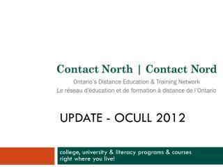 Update -  ocull  2012