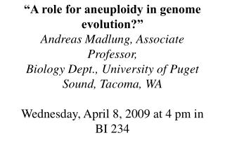 Chemistry Seminar F 4/10  3:15 pm SL 130 Do try to attend.  This guy is good!