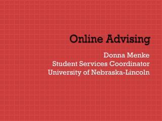Online Advising