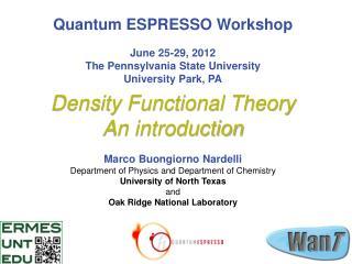 Density Functional Theory  An introduction
