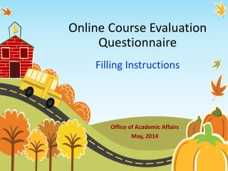 Online Course Evaluation Questionnaire