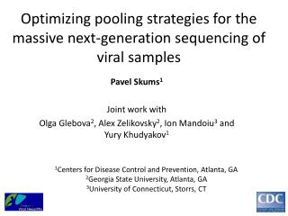 Optimizing pooling strategies for the  massive next-generation  sequencing of viral samples