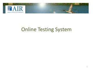 Online Testing System