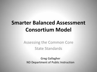 Smarter Balanced Assessment Consortium Model