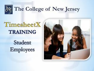 TimesheetX TRAINING Student Employees