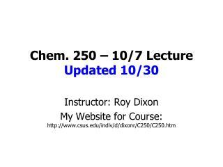 Chem. 250   10