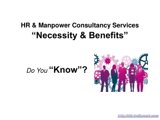 HR And Manpower Consultancy Services