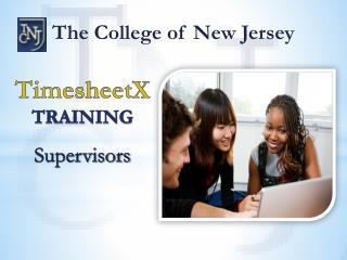 TimesheetX TRAINING Supervisors