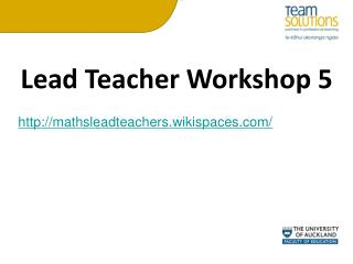 Lead Teacher Workshop 5