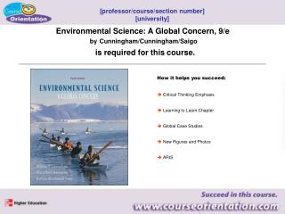 Environmental Science: A Global Concern, 9/e by Cunningham/Cunningham/Saigo