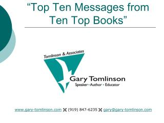 """Top Ten Messages from Ten Top Books"""