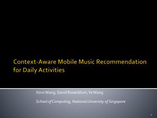 Context-Aware Mobile Music Recommendation  for Daily Activities