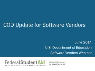 COD Update for  Software Vendors