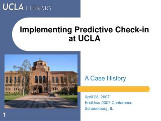 Implementing Predictive Check-in at UCLA