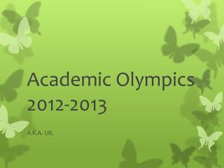 Academic Olympics 2012-2013