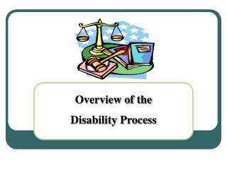 Overview of the  Disability Process