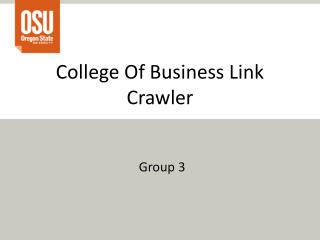 College Of Business Link Crawler