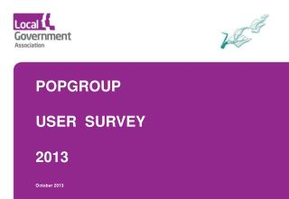 POPGROUP USER  SURVEY 2013