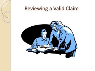 Reviewing a Valid Claim