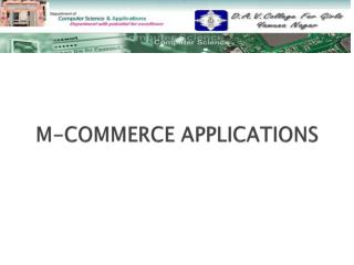 M-COMMERCE  APPLICATIONS