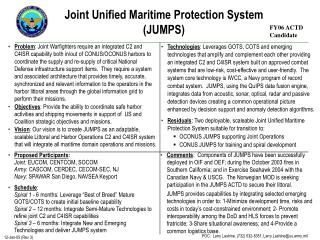 Joint Unified Maritime Protection System JUMPS