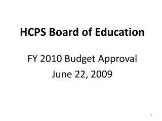 HCPS Board of Education