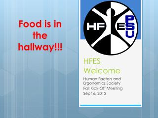 HFES Welcome