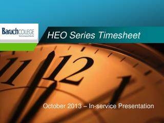HEO Series Timesheet