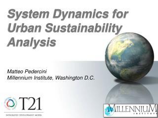 Matteo Pedercini Millennium  Institute, Washington  D.C.