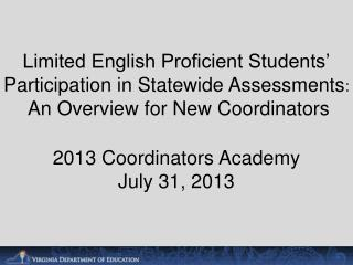 Assessment Participation