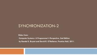 Synchronization -2