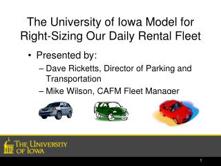The University of Iowa Model for Right-Sizing Our Daily Rental Fleet